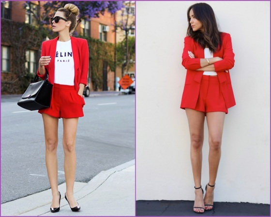 Red short suits