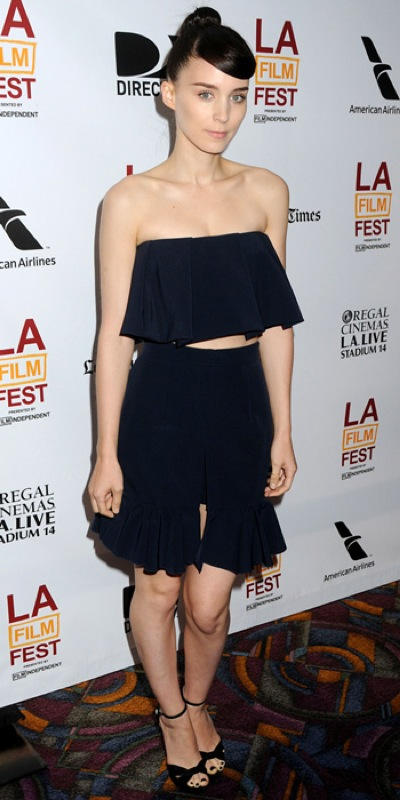 Rooney Mara frills combo