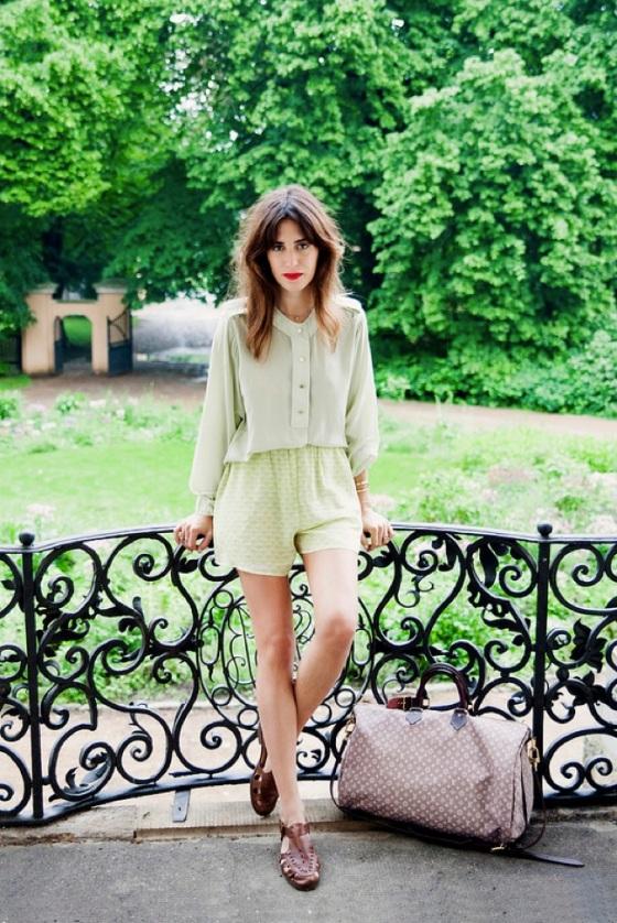 Matchy shorts and blouse