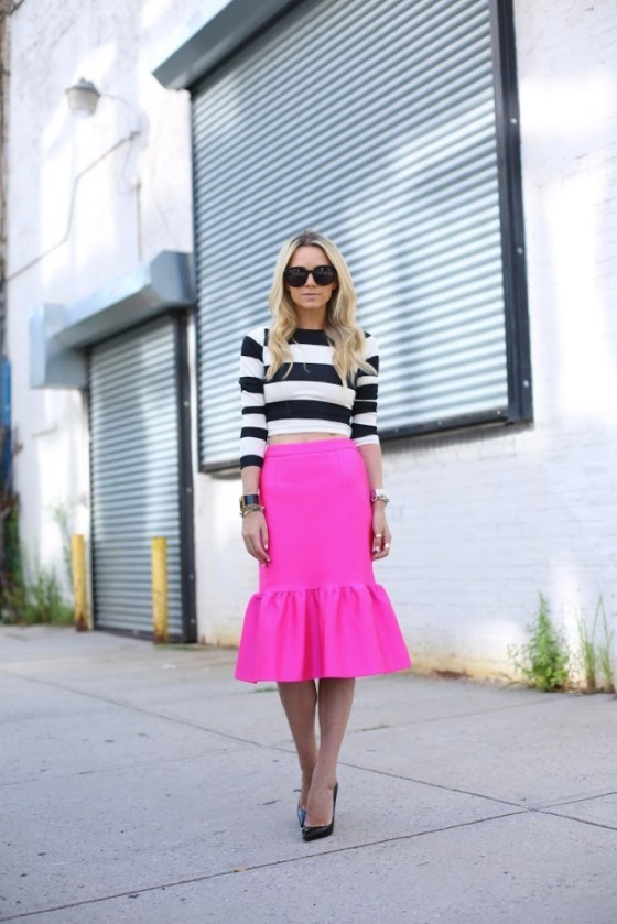 Pink frills skirt