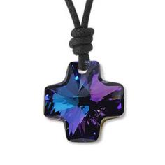 Colgante con Swarovski azul violeta