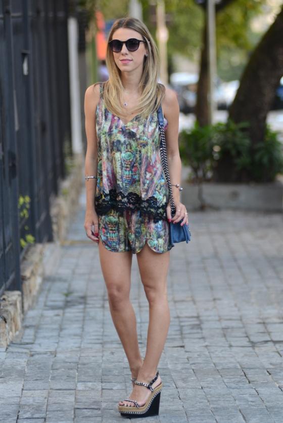 conjunto blusa y short