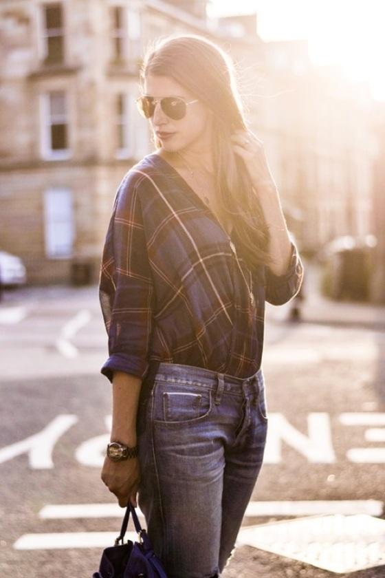 Tartan blouse