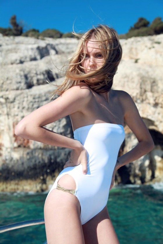 White swinsuit