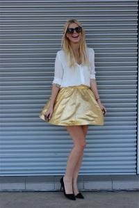 Mini falda dorada
