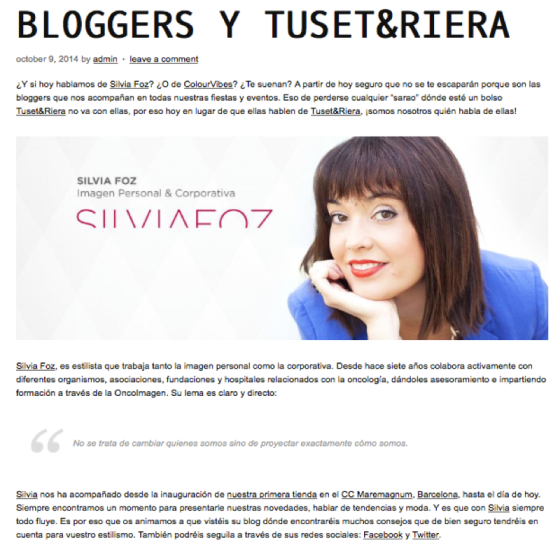 Bloggers y Tusset&Riera