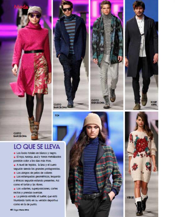 Reportaje Moda Hogar Marzo 2014