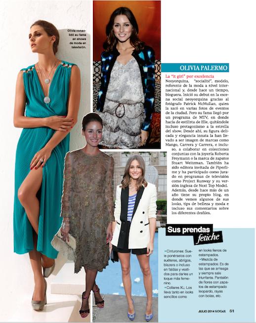 Revista Hogar - Olivia Palermo