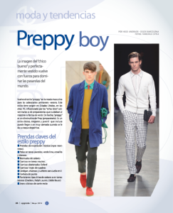 Revista UPGRADE - Moda Preppy Masculina