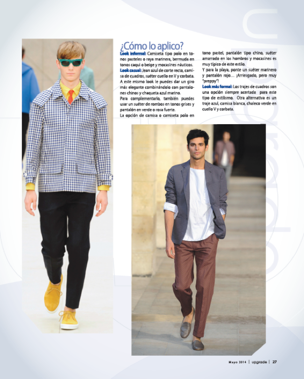 REVISTA UPGRADE - Moda Peppy Hombre