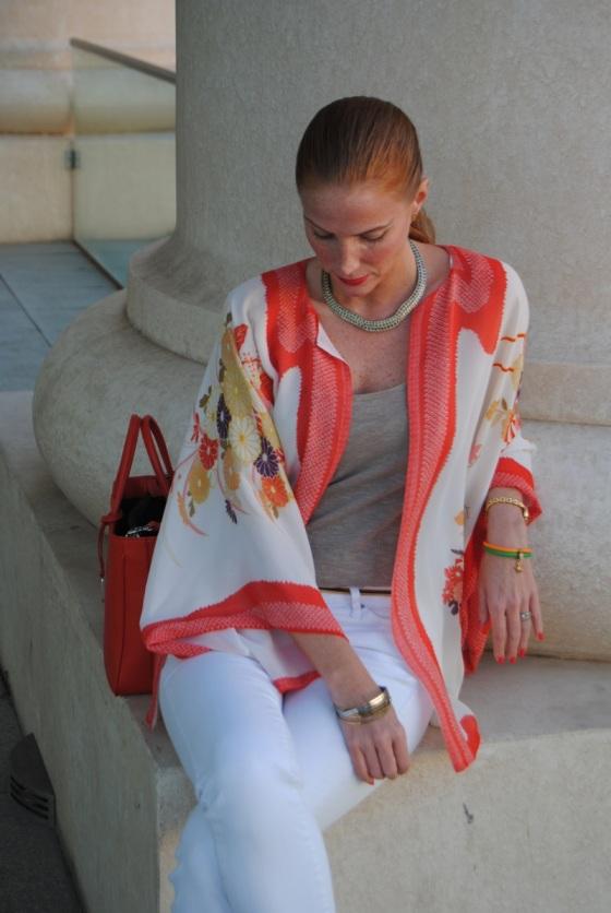 Zara orange kimono