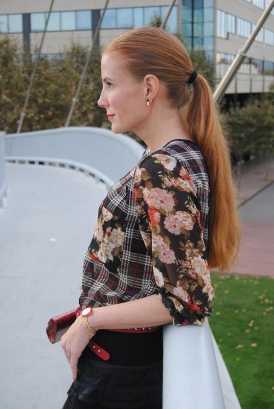 Blusa de Cuadros y flores