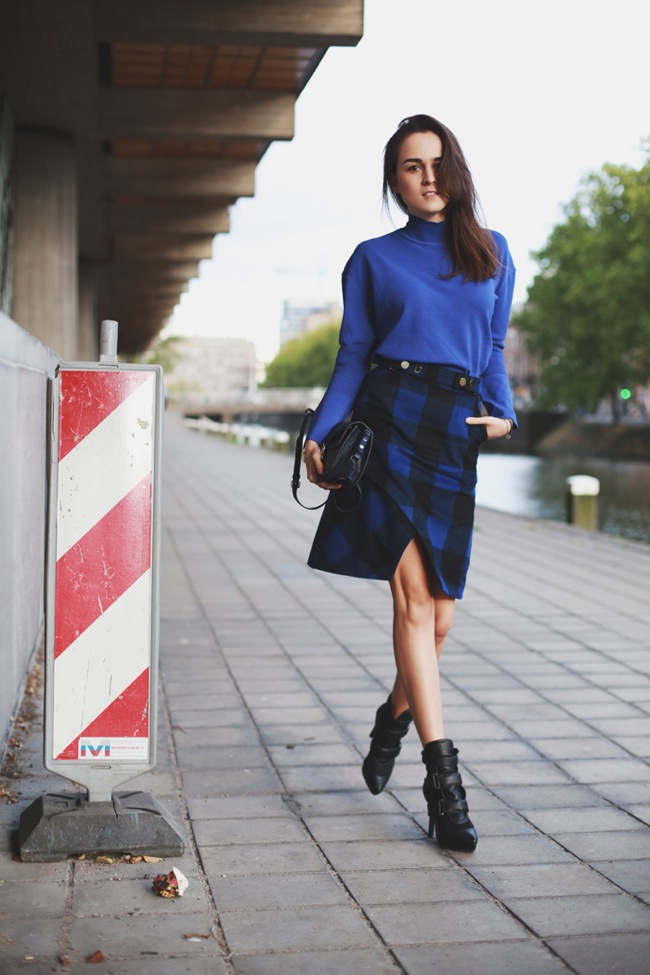 Andy Torres Blue skirt