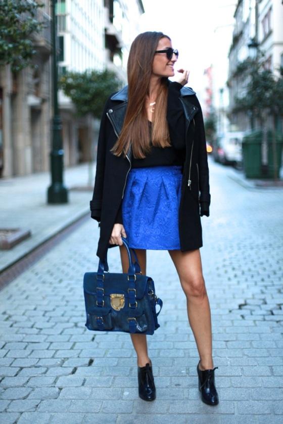 Bartabacmode blue klein skirt