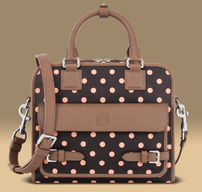 BOLSO CRUZ CON DOTS MARRON/VISON