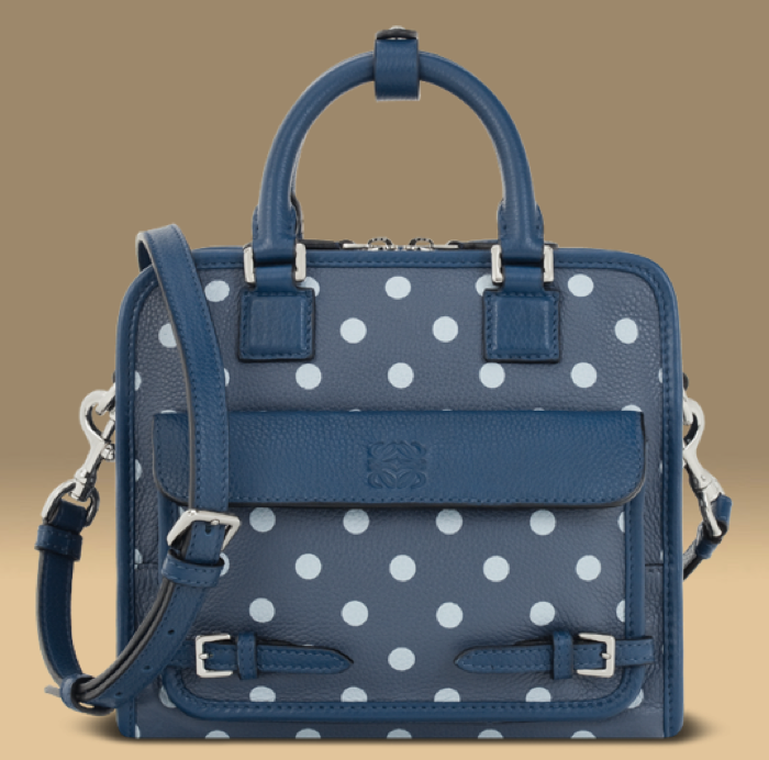 SMALL CRUZ WITH DOTS BAG OCEAN/NAVY BLUE