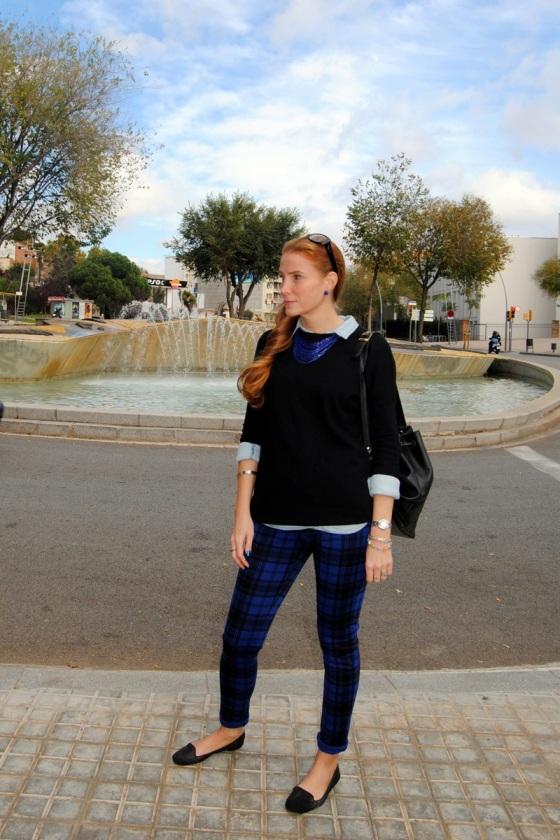Pantalón cuadros azul