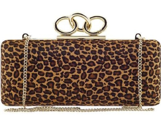 clutch de estampado leopardo