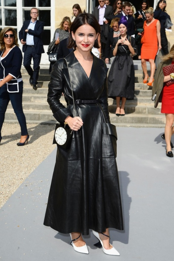 Miroslava Duma leather look