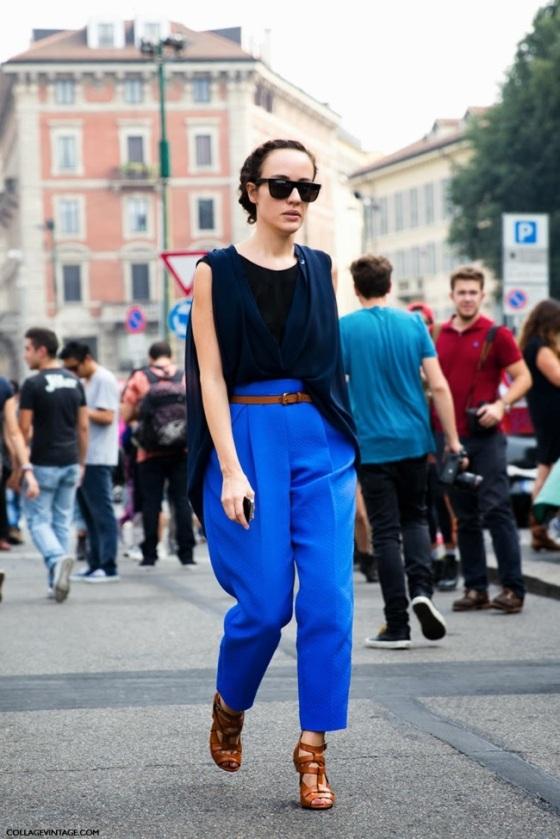 look Azul klein y negro