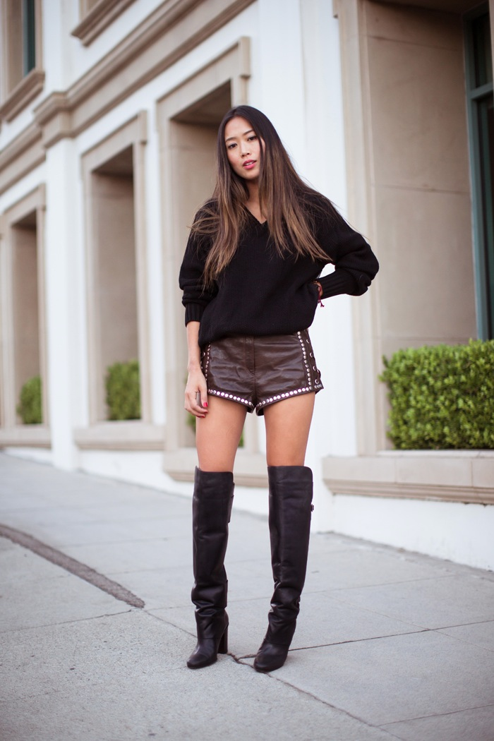 Song of Style - over the knee boots