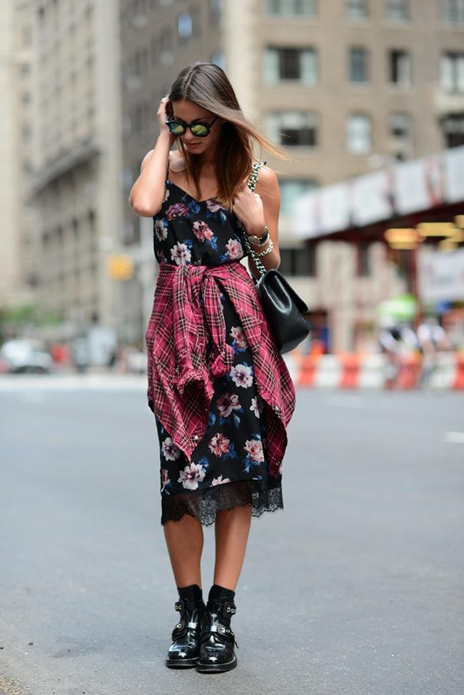 Lingerie floral dress