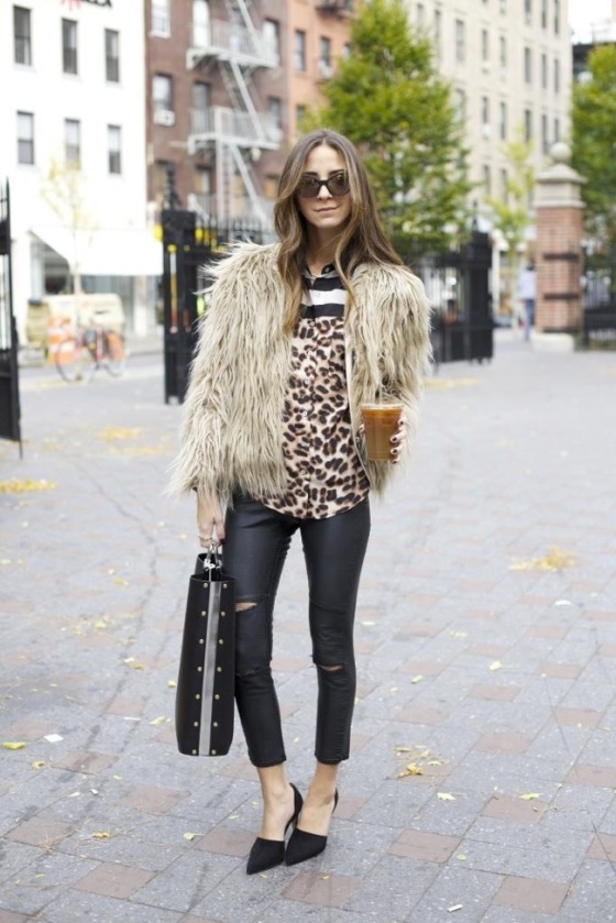 Leopard look and fur