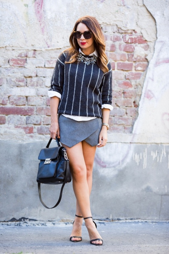pinstripe sweater
