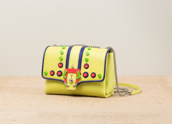 17-Paula-Cademartori_Spring-Summer-2014_Carine_Mini-Shoulder-Bag_studs-yellow-nappa