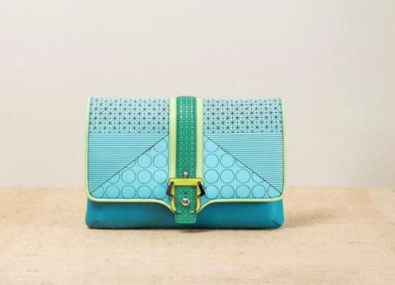 18-Paula-Cademartori_Spring-Summer-2014_Sylvie_Clutch-Bag_bright-blue_geometric-design