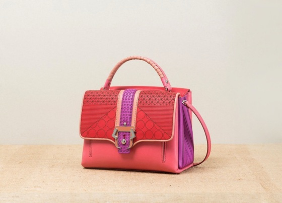 Paula-Cademartori_Spring-Summer-2014_Petite-Faye_Small-Shopping-Bag_bubble-gum_geometric-design