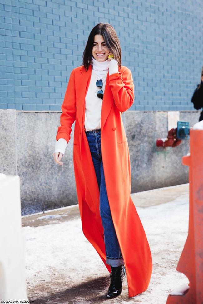 Long orange coat