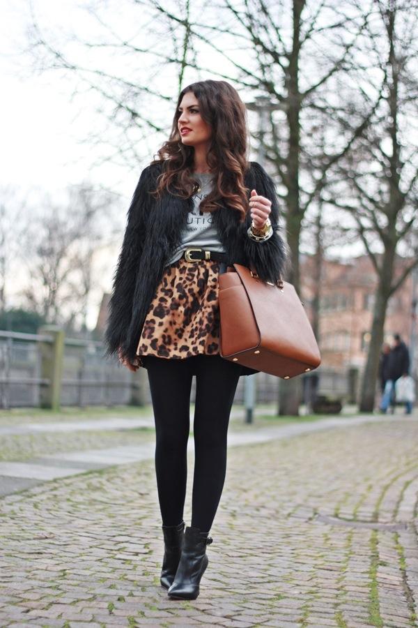 Hairy black coat