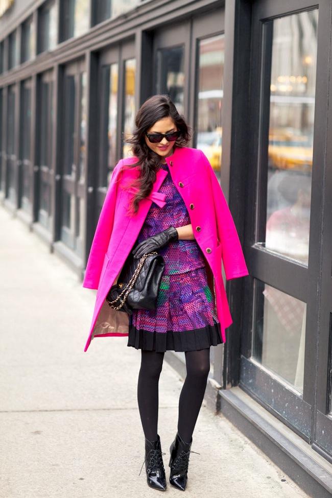 pink bow coat