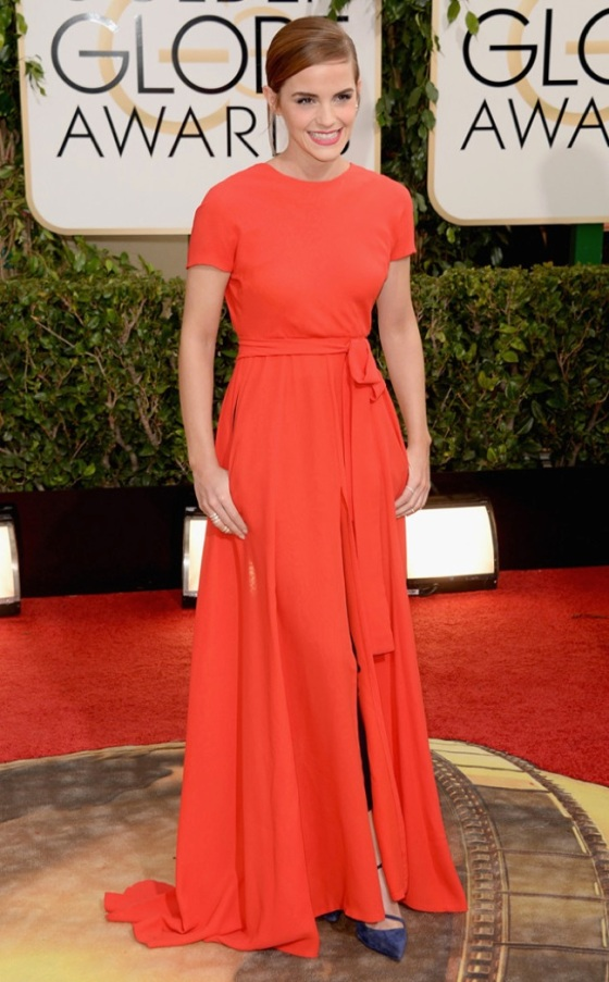 Ema Watson in red Dior
