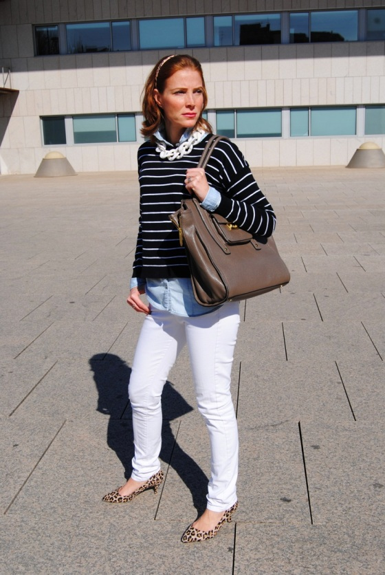 Stripes and sweater