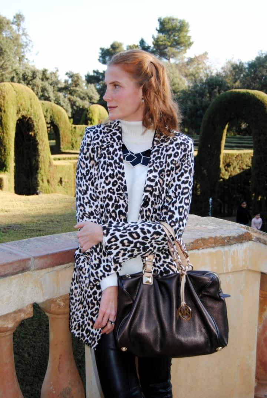 Leopard print blazer