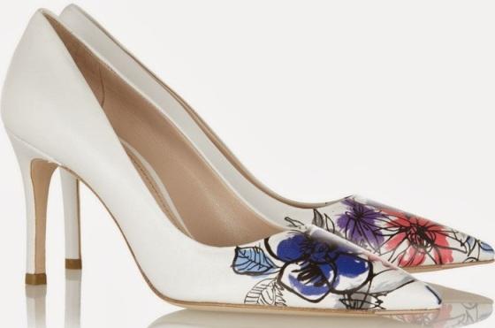 Miu Miu floral heels