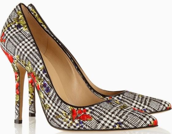 Oscar d ela Renta floral print shoes