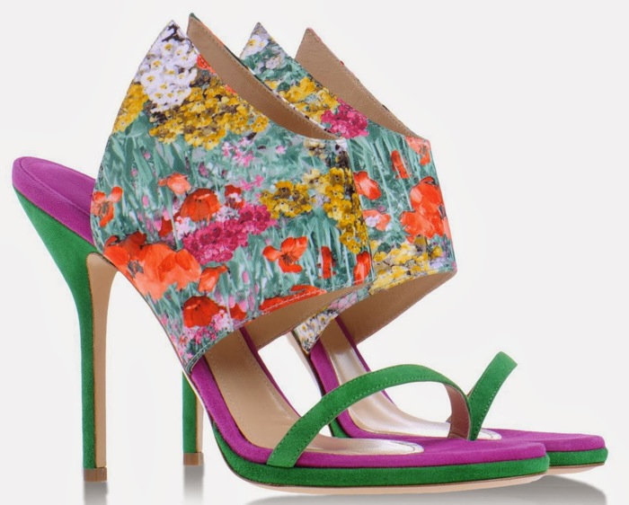Paul Andrew floral sandals