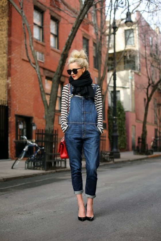 overoll and stripes