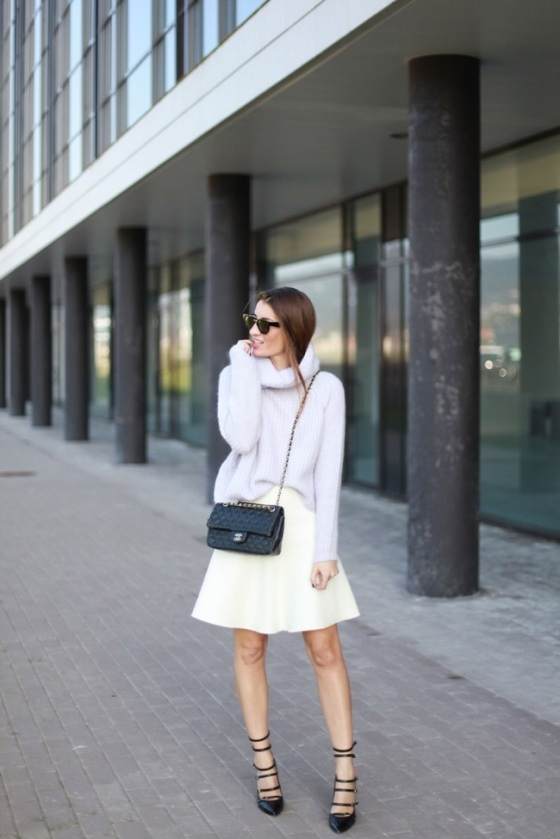 Pastel look and white