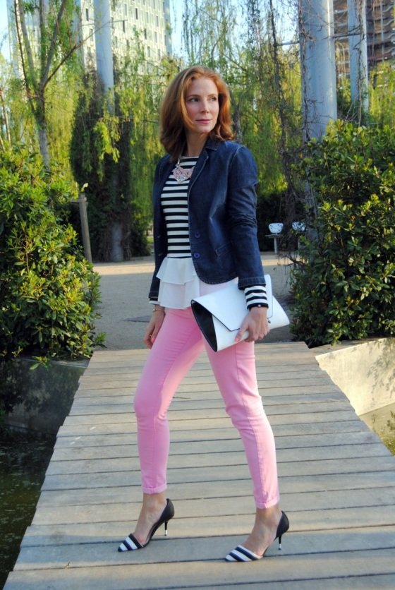 Stripes and pink look