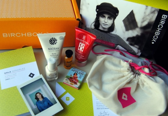 April Birchbox products
