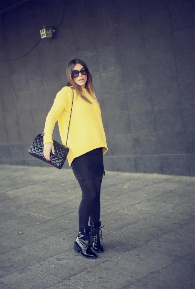 suéter amarillo