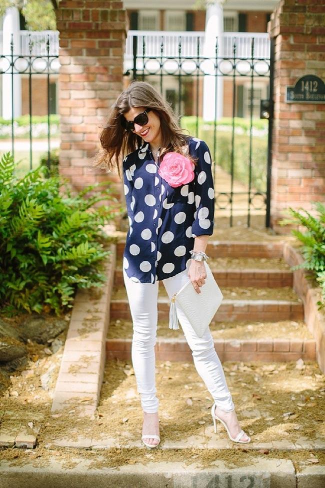 blusas de lunares