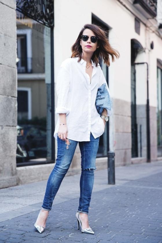 looks con camisa blanca