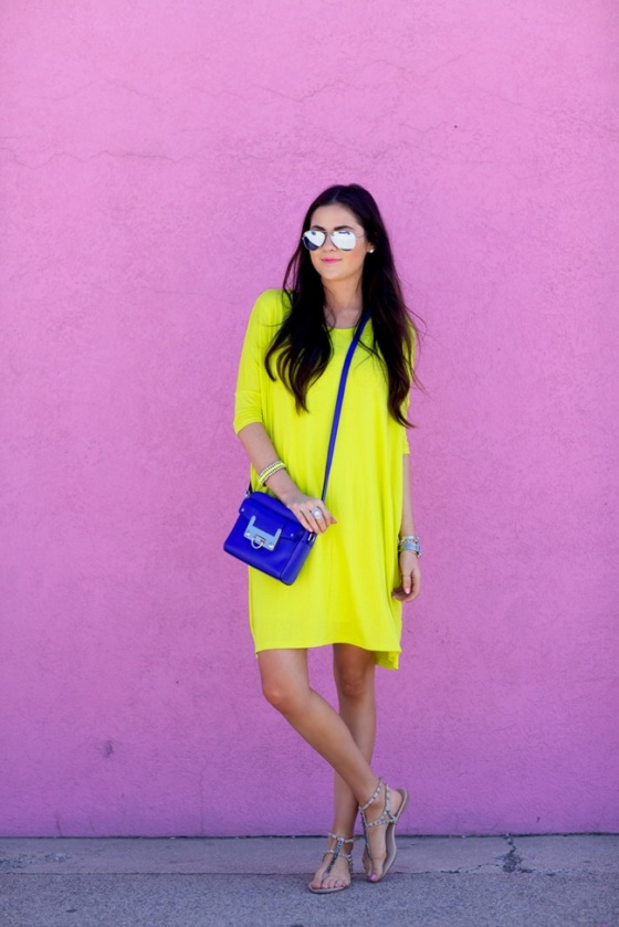 yellow dress look