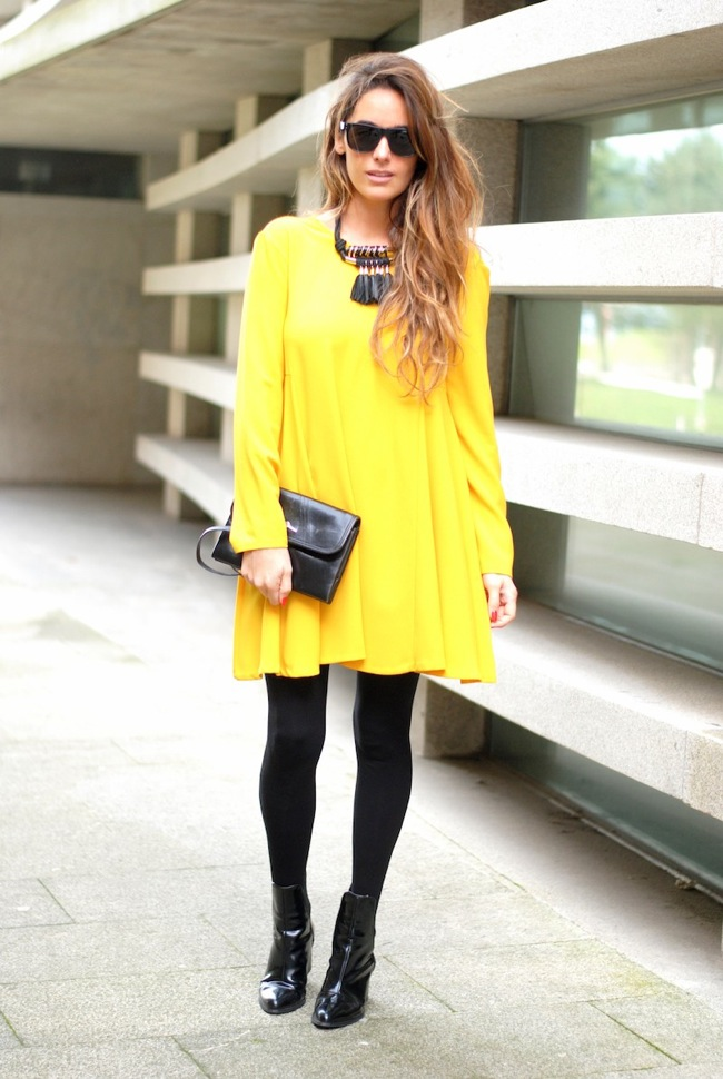 yellow and black look