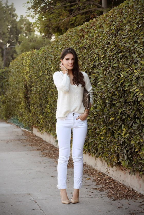 white jeans look